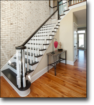 Staircase Wall Covering Ultralight Low Cost Brick Design