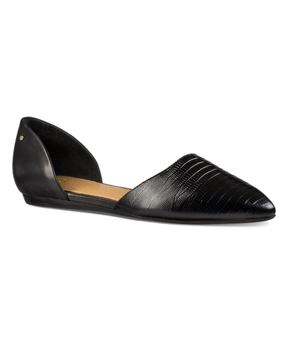 08d5d1d1da81dd UGG® Black Lea Lizzard Leather D Orsay Flat by UGG® Australia  zulilyfinds