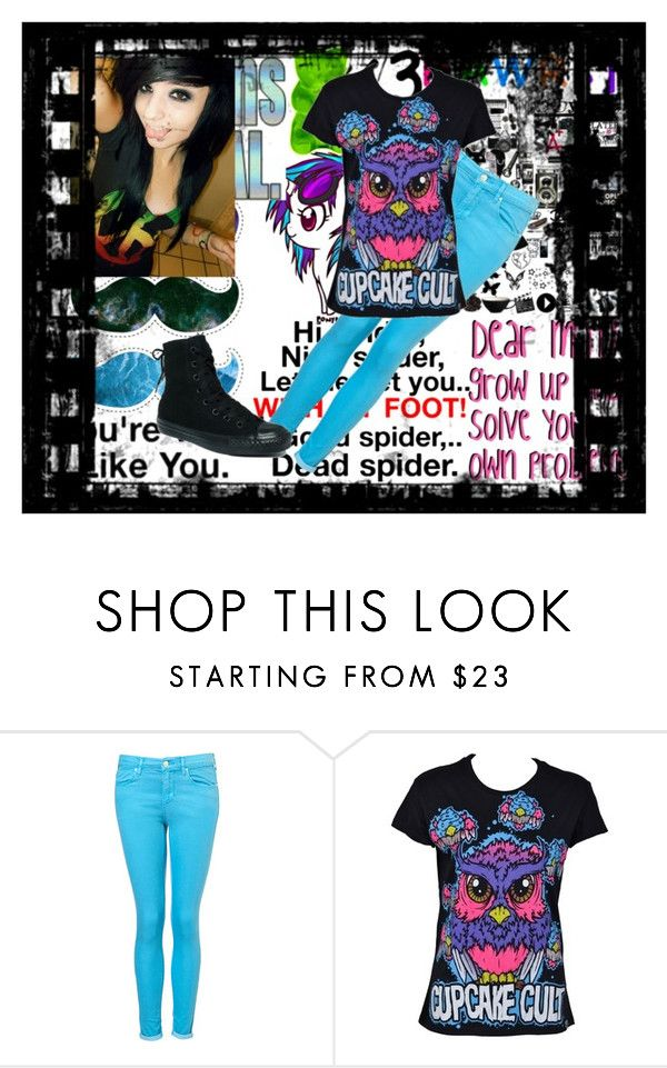 """The moustache is evil!!!!!!!!!!!!!"" by xtheninjaunicornsx ❤ liked on Polyvore featuring Børn, LOVA and Converse"