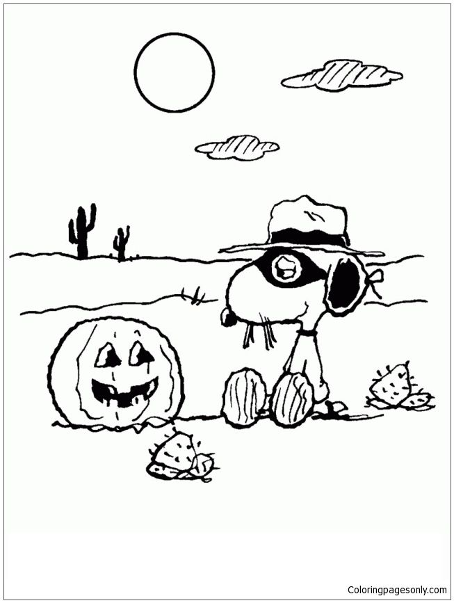 Snoopy Halloween Coloring Page httpcoloringpagesonlycompages