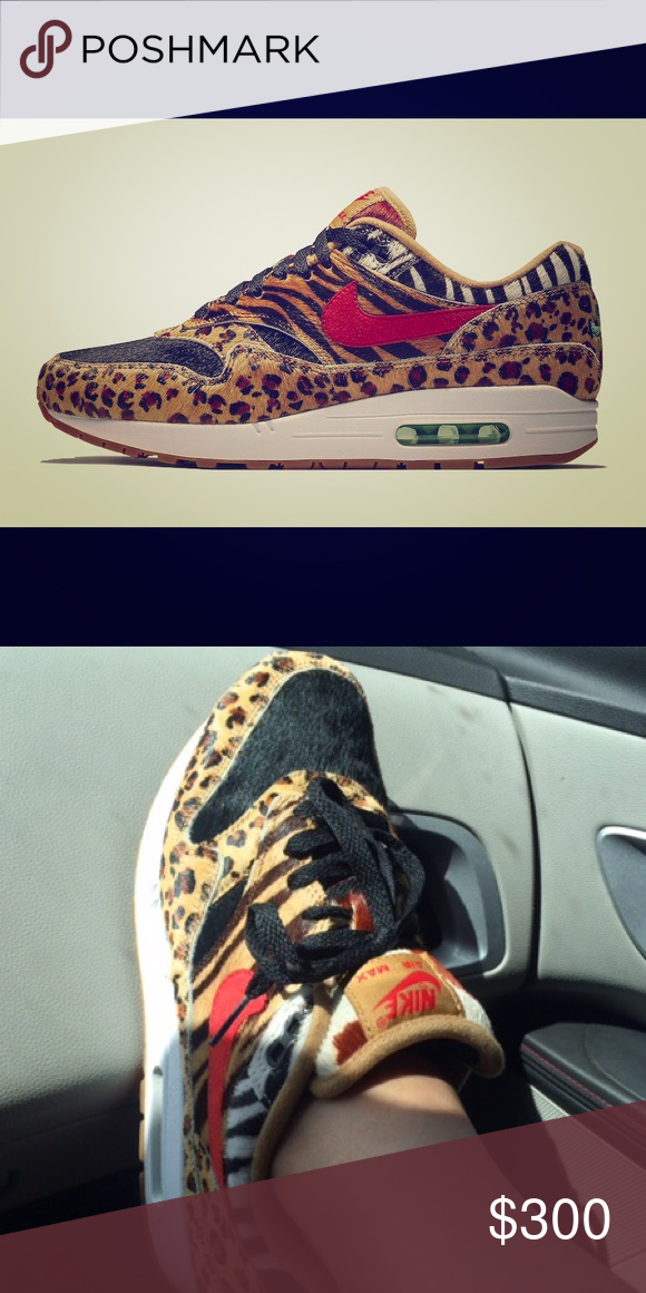 reputable site 968d5 ccbbb Spotted while shopping on Poshmark  Used size 8 1 2 Air Max 1 Atmos Animal  2.0!  poshmark  fashion  shopping  style  Nike  Shoes