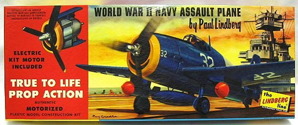 Lindberg Navy Helcat Assault Plane WWII with Electric Kit