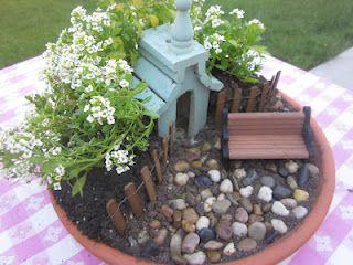 Embellishing Life - mini garden in a pot