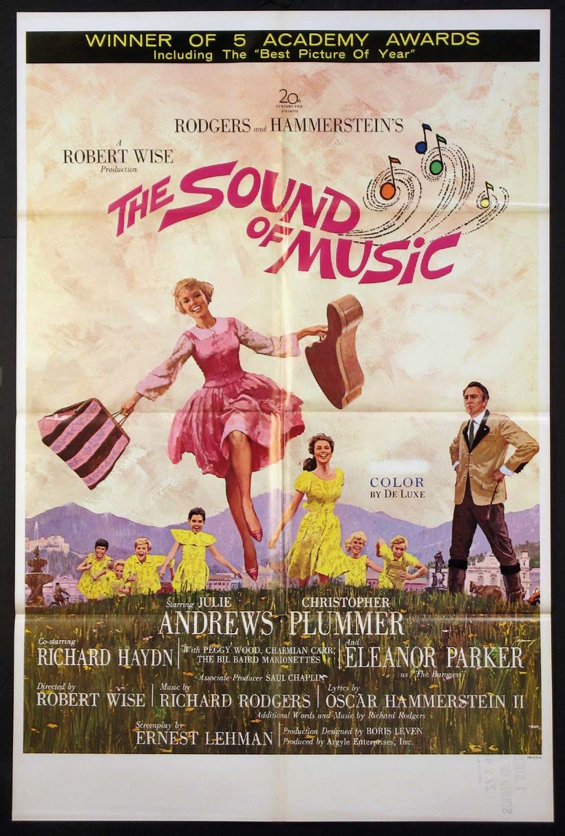 Sound Of Music The Movie Poster 1965 Musical Dance Movie Posters Filmposters Com Vintage M Sound Of Music Movie Musical Movies Best Movie Posters