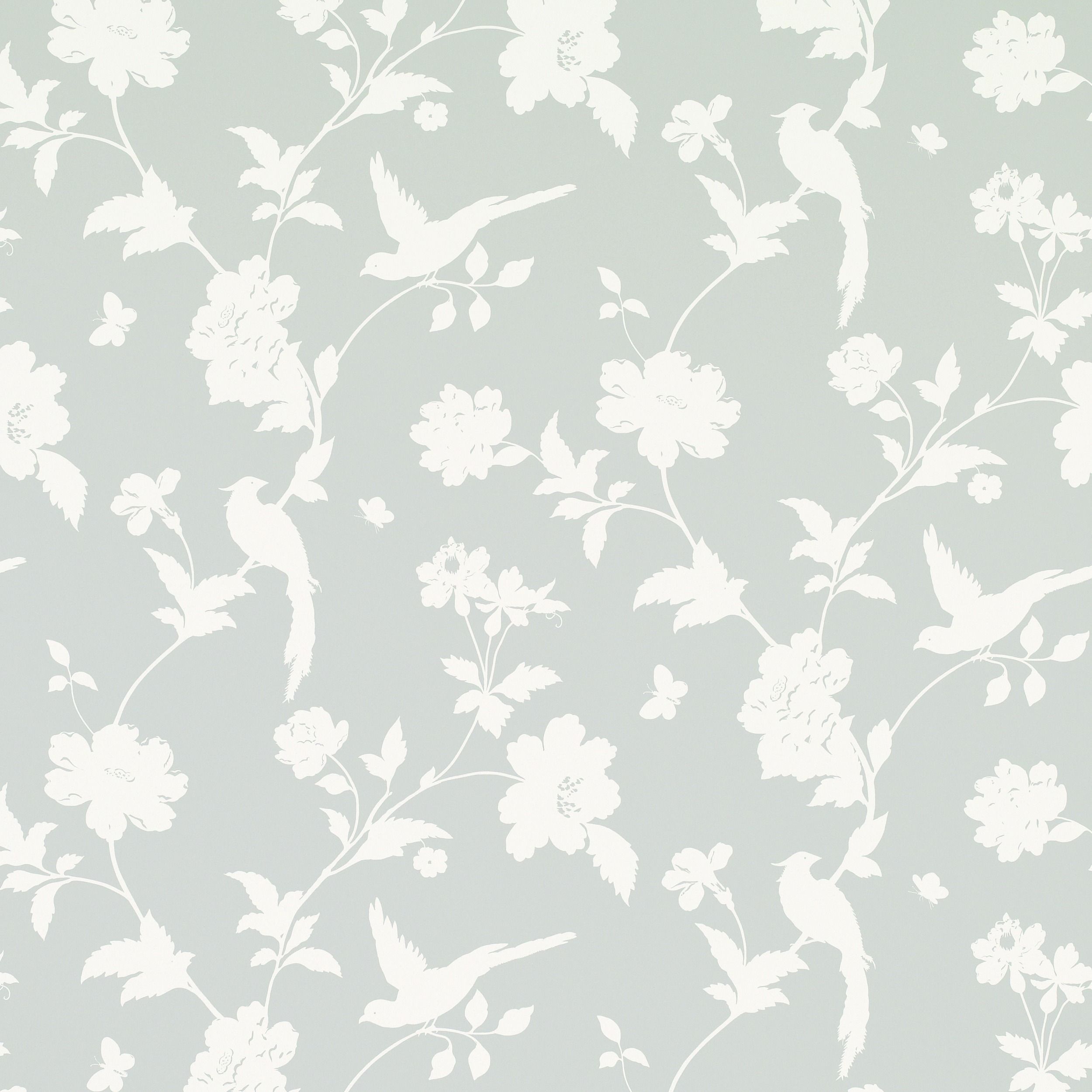 Farleigh Dove Grey Floral Wallpaper at Laura Ashley Grey