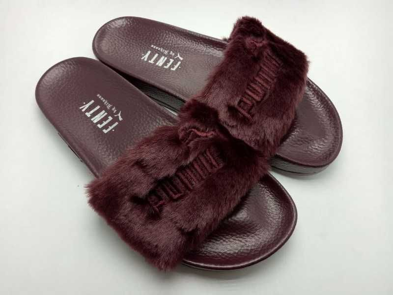 US  50.00 Rihanna x Puma Fenty Fur Leadcat Slides Women Slipper Coffee fd6d3d1c62