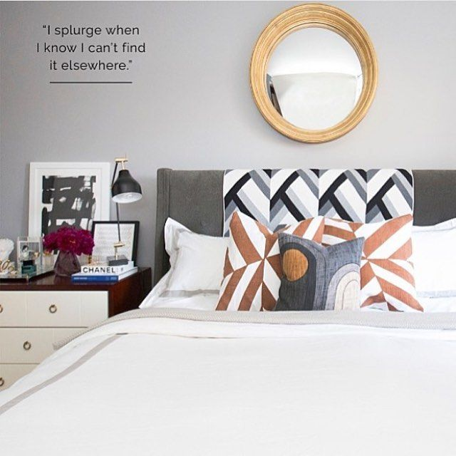 The bedroom of @lillianavazquez, style expert (you may recognize her from the @todayshow!) as pictured in @ruemagazine ft. our bedding