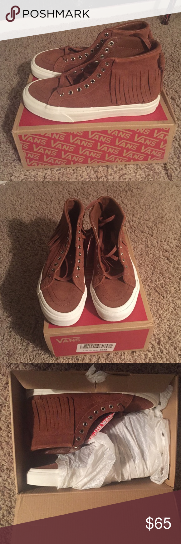 658fb2bd10e7 Vans suade sk8-hi moc Brand new! Still in the box. Tags included. Vans Shoes  Sneakers