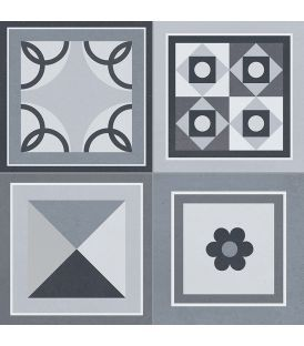 Carrelage imitation carreaux ciment, série Stella avec Réflex®. - Réflex®