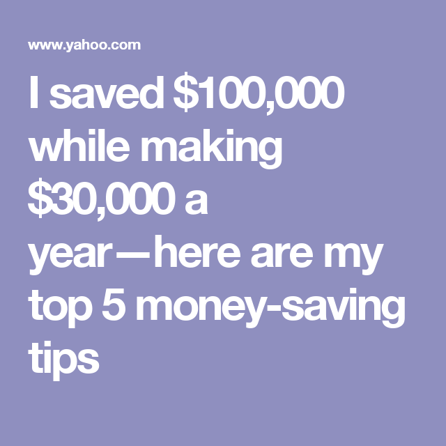 How To Save Money On 30000 A Year