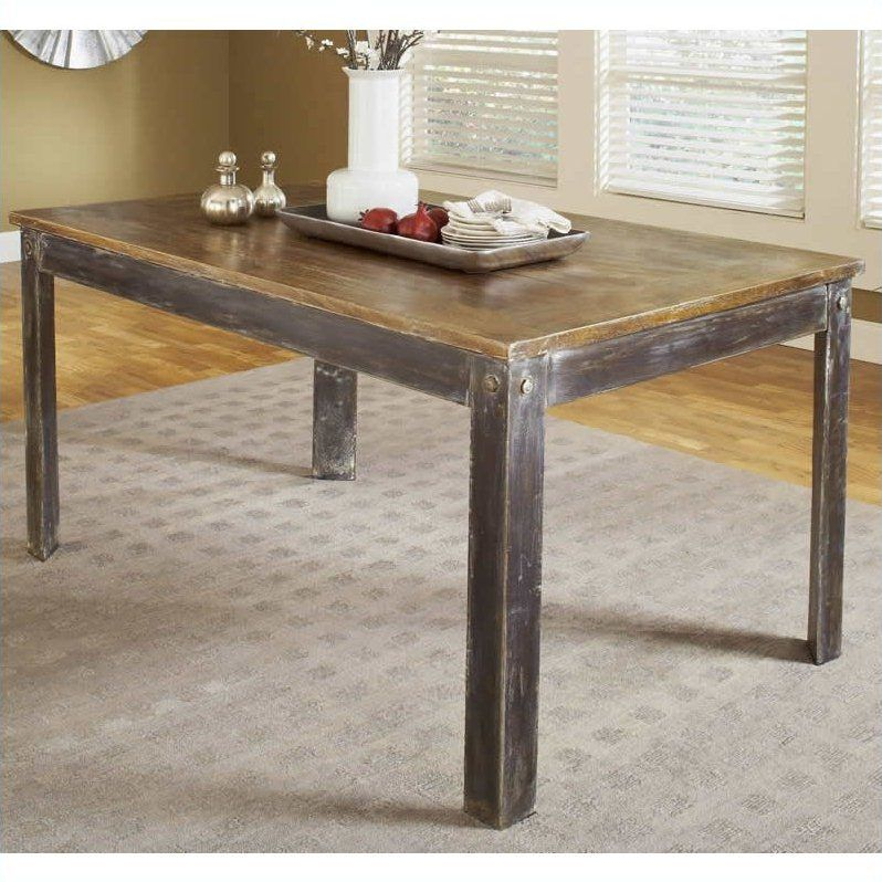 Modus Farmhouse Dining Table In Antique Walnut Room Pinterest