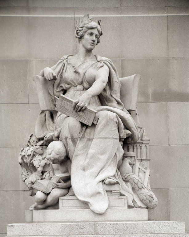 Allegorical Figure of Brooklyn, from the Manhattan Bridge, NYC, Daniel Chester French