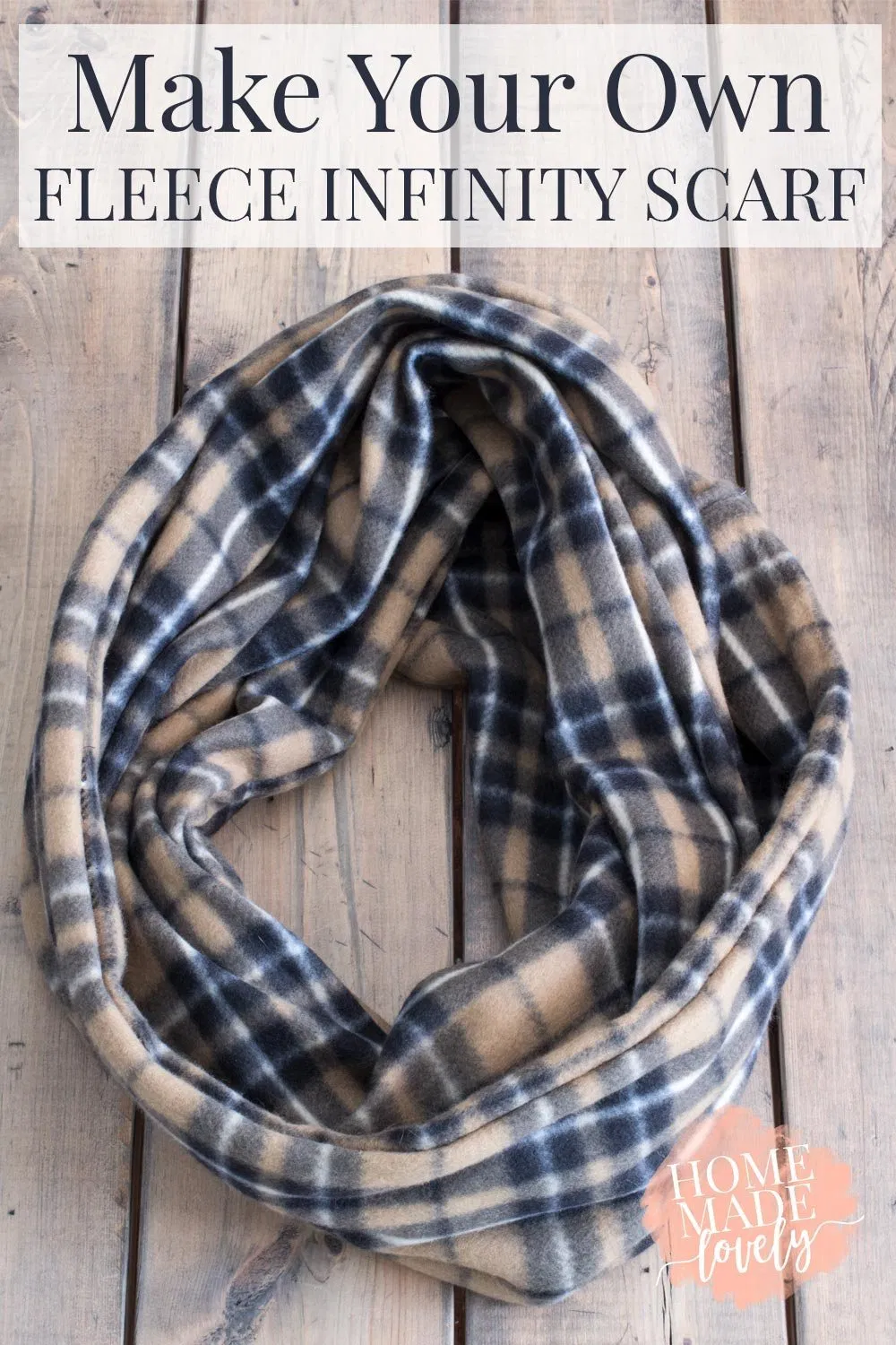 Photo of How to Make Your Own Quick & Easy Fleece Infinity Scarf