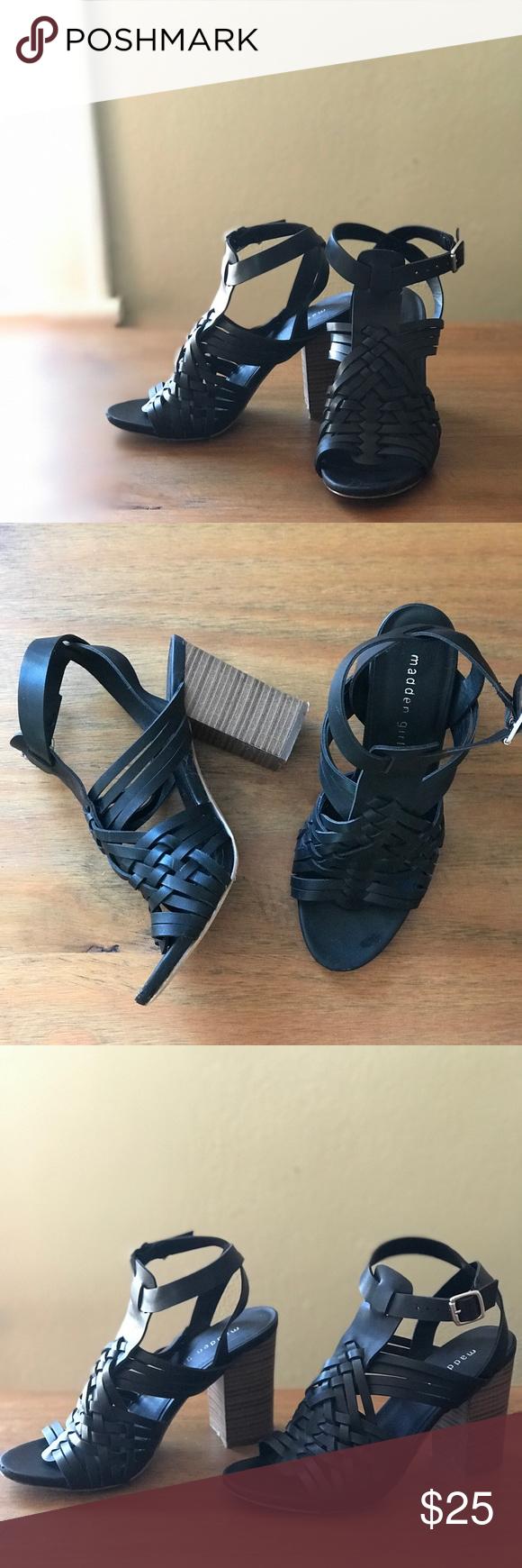 Madden Girl Black Strappy Sandal