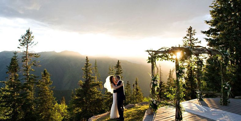 Wedding On A Deck Weddings Colorado Rocky Mountain Venues Aspen Snowm