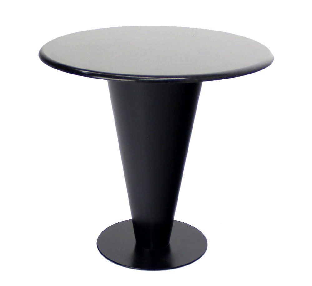 for sale on very nice and solid cone shape metal base black grant cafe table by u0027apollo woodworking and metal corp