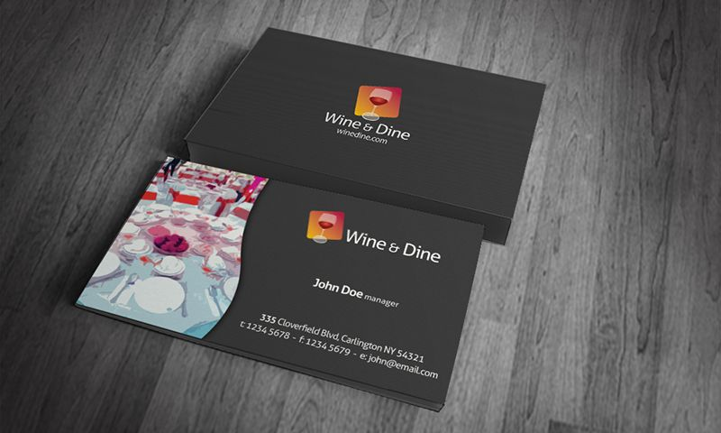 business card templates digital takeaway restaurants business - business card sample