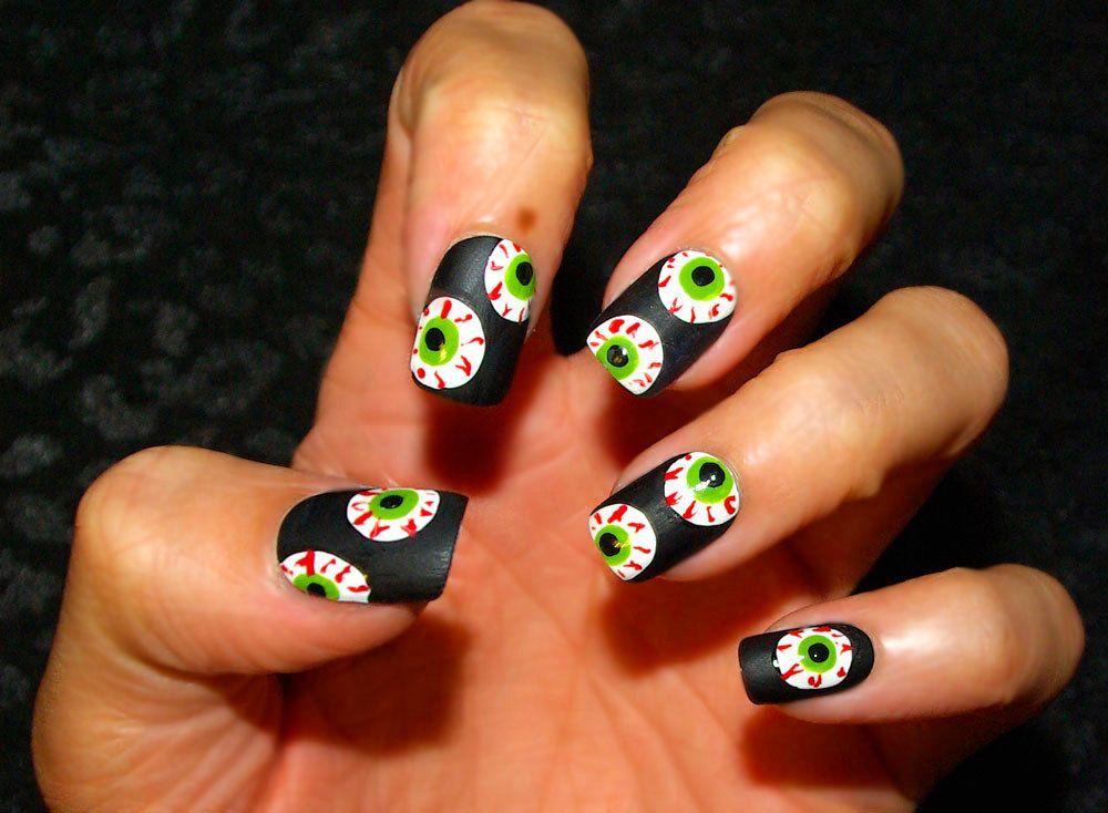 Eyeball nails, via Etsy.   nail. art.   Pinterest   Nail nail and Makeup