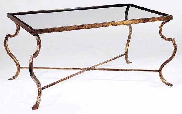 Coffee Table and Rectangular Wrought Iron Coffee Table. Irvington home $1700