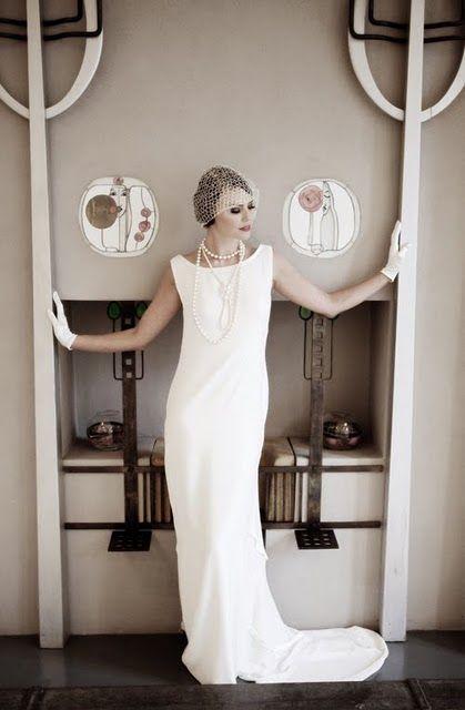Mariages r tro robes de mari es style ann es 20 30 wedding pinterest mariage retro - Style annee 20 ...