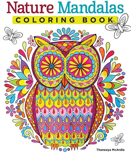 Nature Mandalas Coloring Book Design Originals Experience A Printed On High Quality Extra Thick Paper To Eliminate Bleed Through Each Page