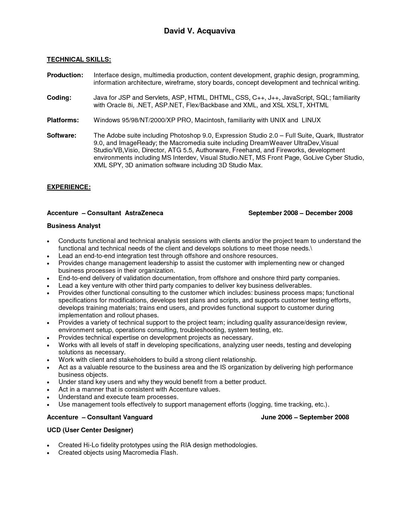 accenture resume examples - Koran.ayodhya.co