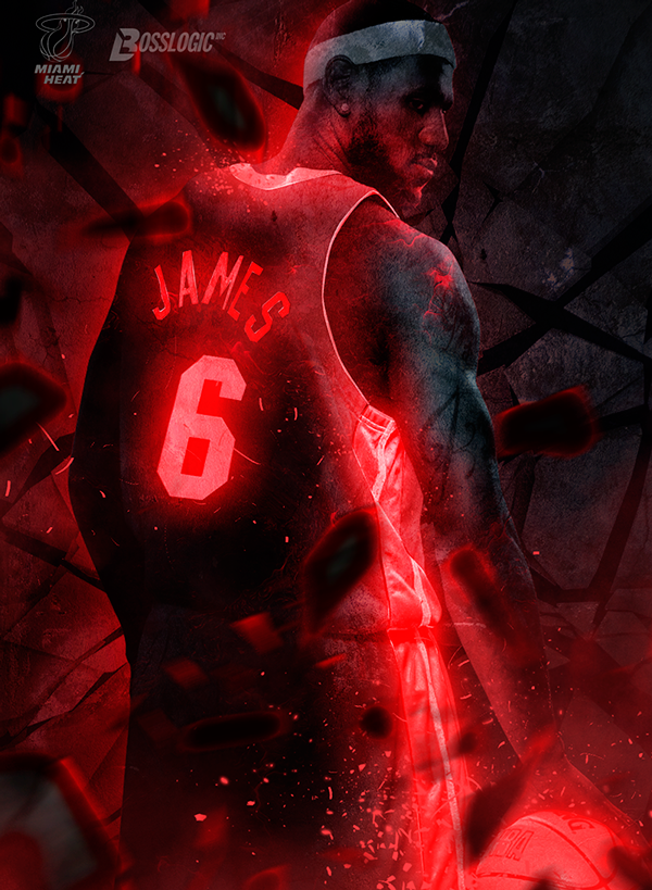Neon B A on Behance | bogs | King lebron james, Lebron james