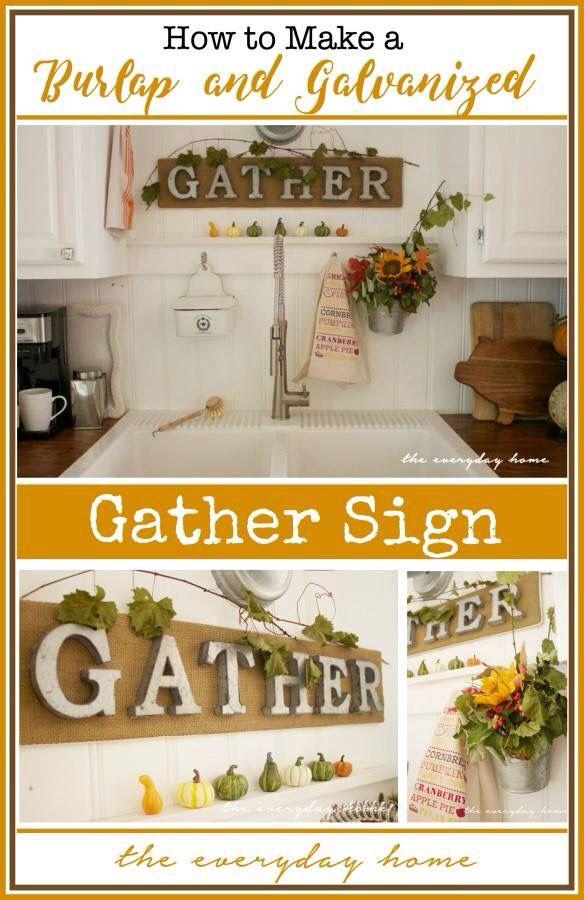 Galvanized/wood sign