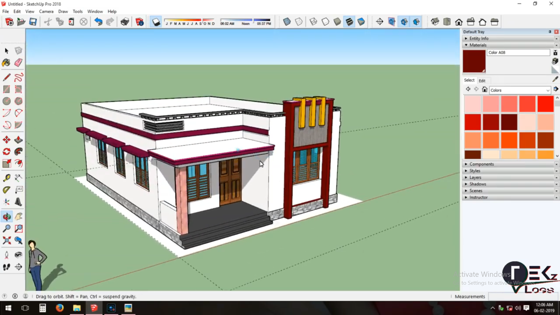 Pin By Rising Star On Sketchup 3d Designing Front Elevation