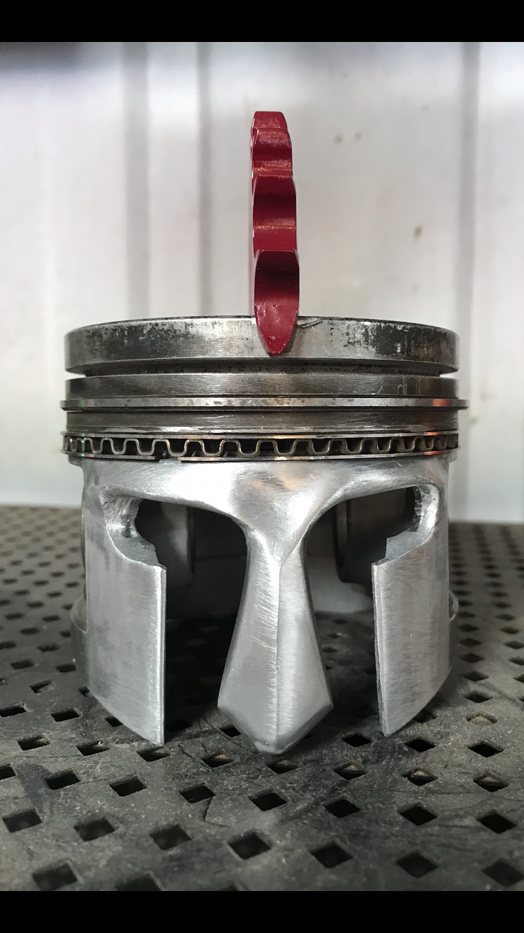 Piston Skull One Of A Kind Ford Y Block Steel Art Scrap