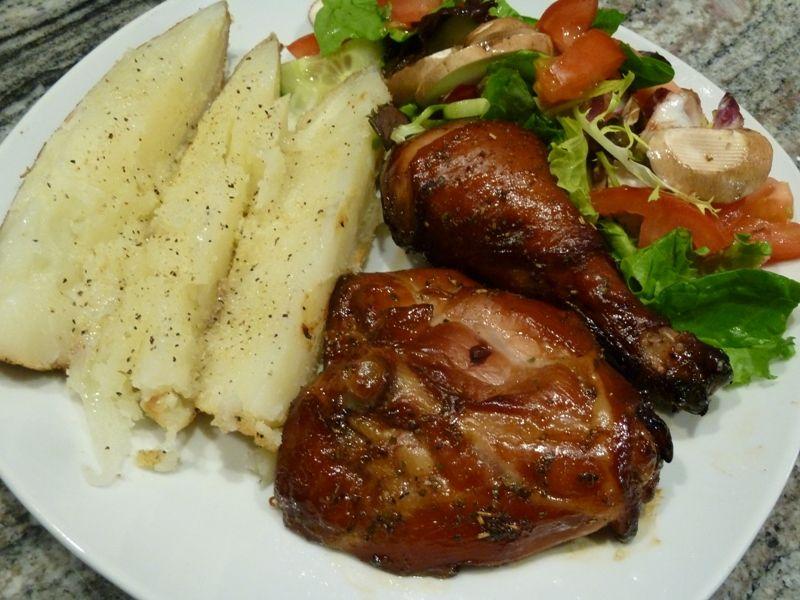Teriyaki marinaded Chicken Thighs & Drumsticks | Pellet ...