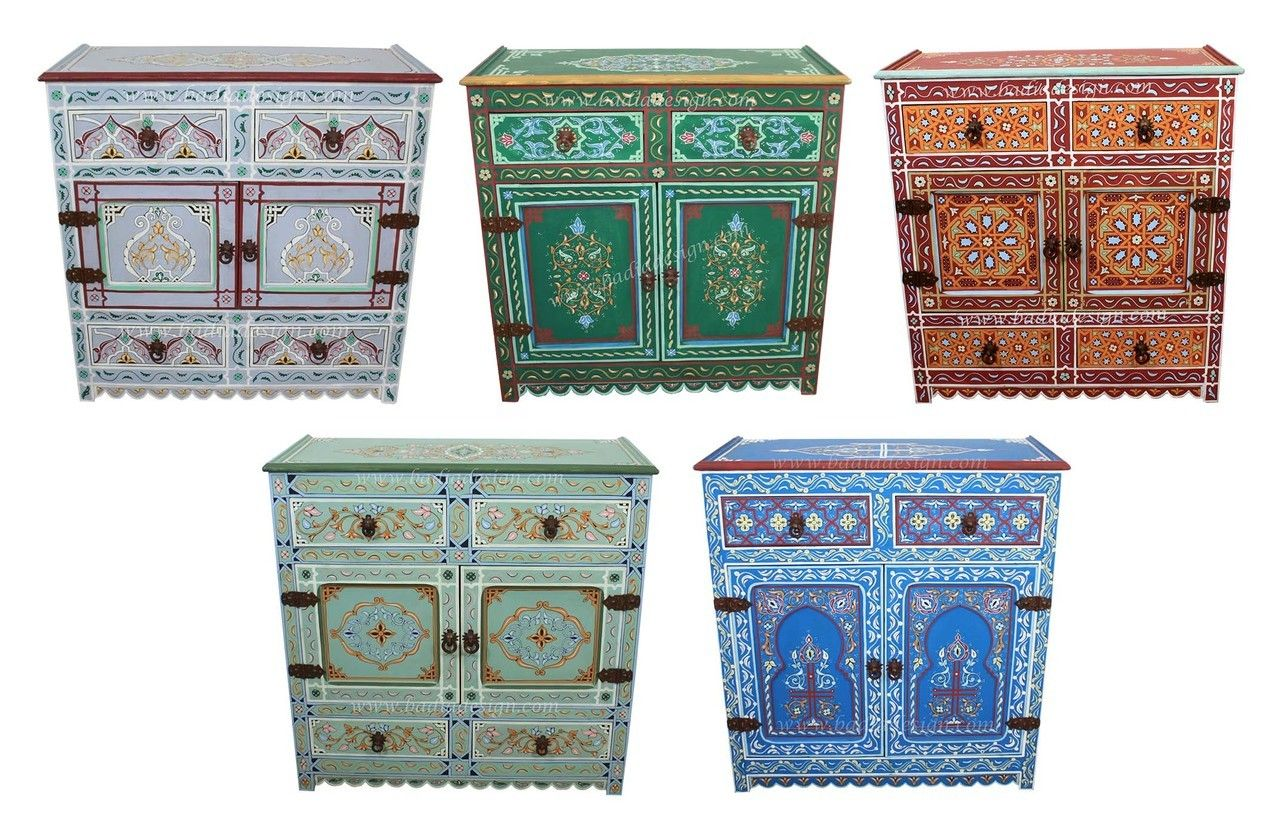 Hand Painted Wooden Cabinet Hp Ca038 Wooden Cabinets Painting Cabinets