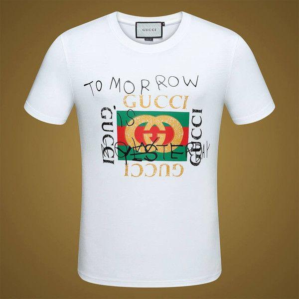 ac0c1cf09e13 Fashion Luxury Brand Tag Men T Shirt Designer Common Sense Spring Summer  Red Green Stripe Letter