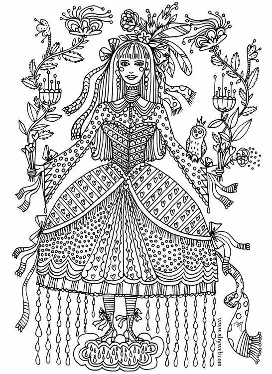 Coloriage De Princesse Et Fee.Coloriage Aby Princesse Fee Fairy My Work Illustration