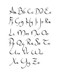 """Résultat de recherche d'images pour """"calligraphie alphabet gratuit"""""""