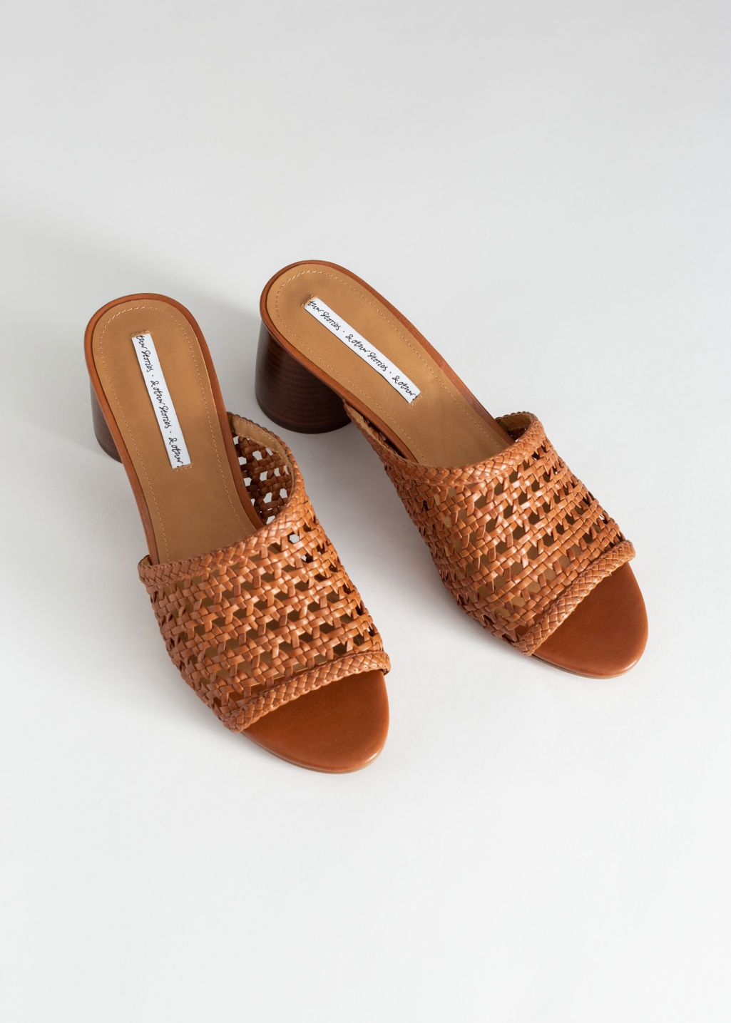 9deeb0b837c Woven Leather Heeled Sandals in 2019 | Accessories | Leather heels ...