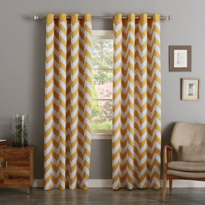 Zipcode Design Alondra Chevron Room Darkening Panels Color