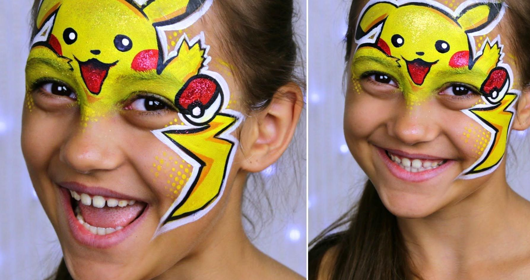 Pokemon Go Pikachu Makeup For Kids Face Painting Tutorial Youtube In 2020 Pikachu Face Painting Face Painting Halloween Face Painting Tutorials