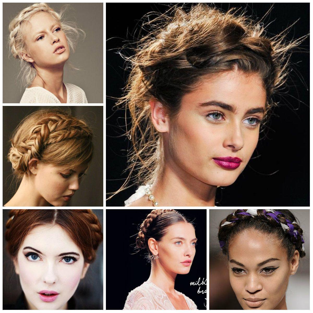Milkmaid Braids Hairstyles from Runway | Trendy Hairstyles ...