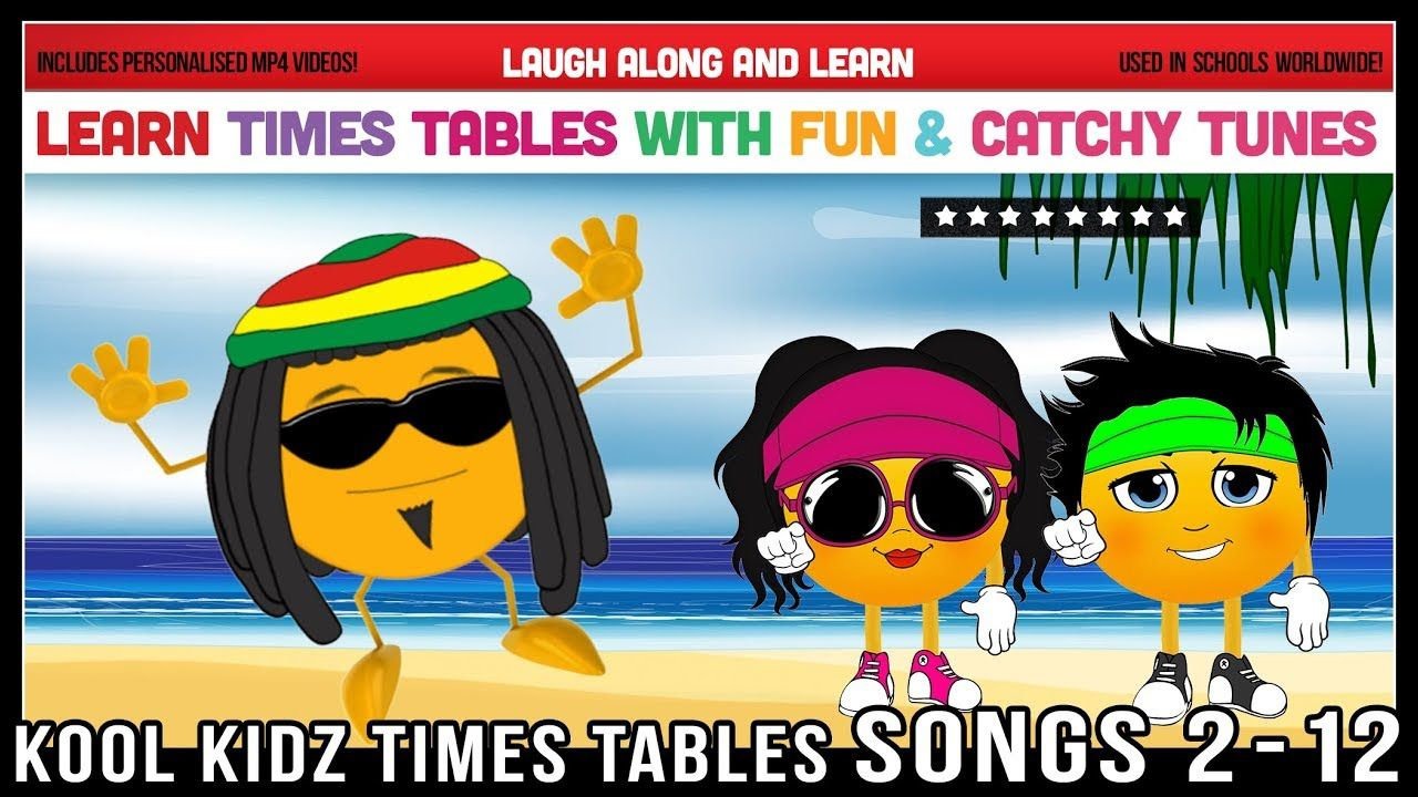 Kool Kidz Times Tables Songs 2 to 12 | Maths Youtube | Pinterest ...