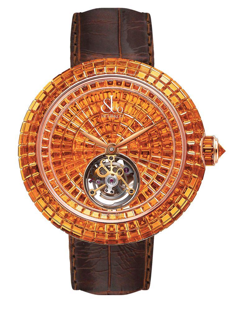 Jacob & Co.'s Brilliant Skeleton Tourbillon Collection Timepiece with a Rose…