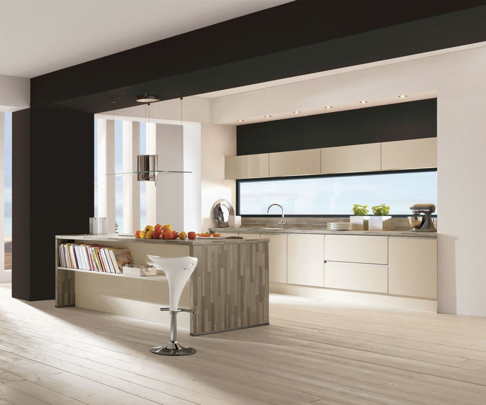 Cuisine beige et blanc pas cher sur cuisine.lareduc.com | Cuisine ...