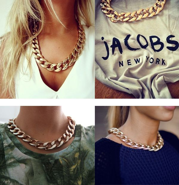 Bižutéria >> | Náhrdelník zlatej farby N0040 | Hodinky, náramky, módne doplnky | FashionShop