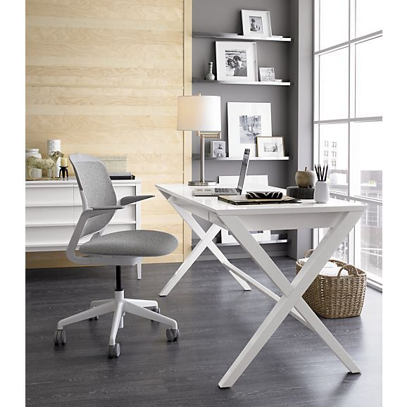 Spotlight White X Leg Desk 58 Reviews Crate And Barrel Home Office Design Home Office Furniture Home