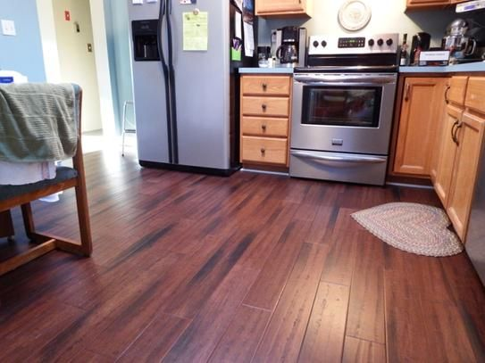 Home Decorators Collection Handscraped Strand Woven Dark Mahogany 3 8 In X 5 1 36 Click Engineered Bamboo Flooring 25625 Sqft Case AM1319E