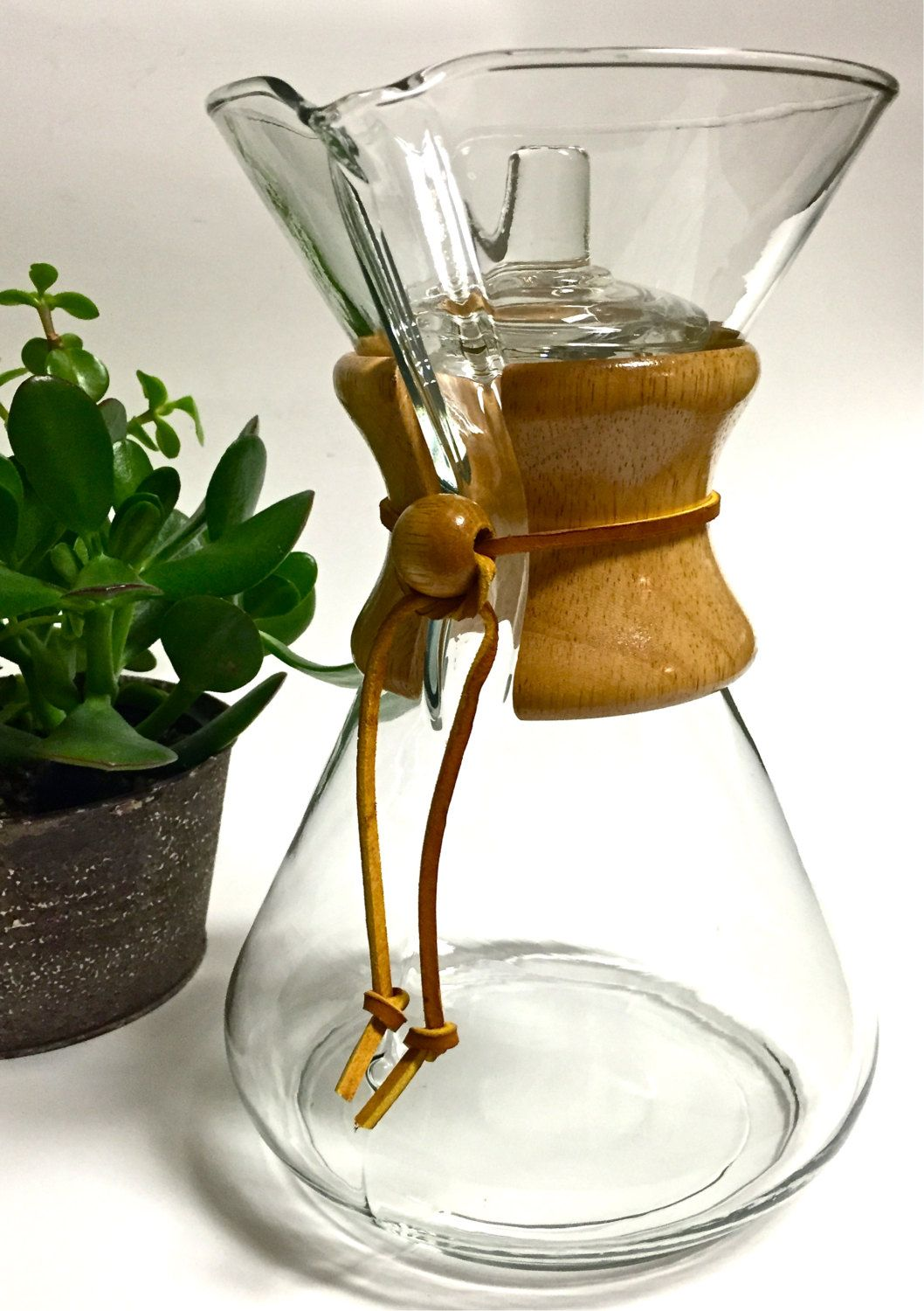 Chemex PourOver Glass Beaker Carafe Coffee Maker with