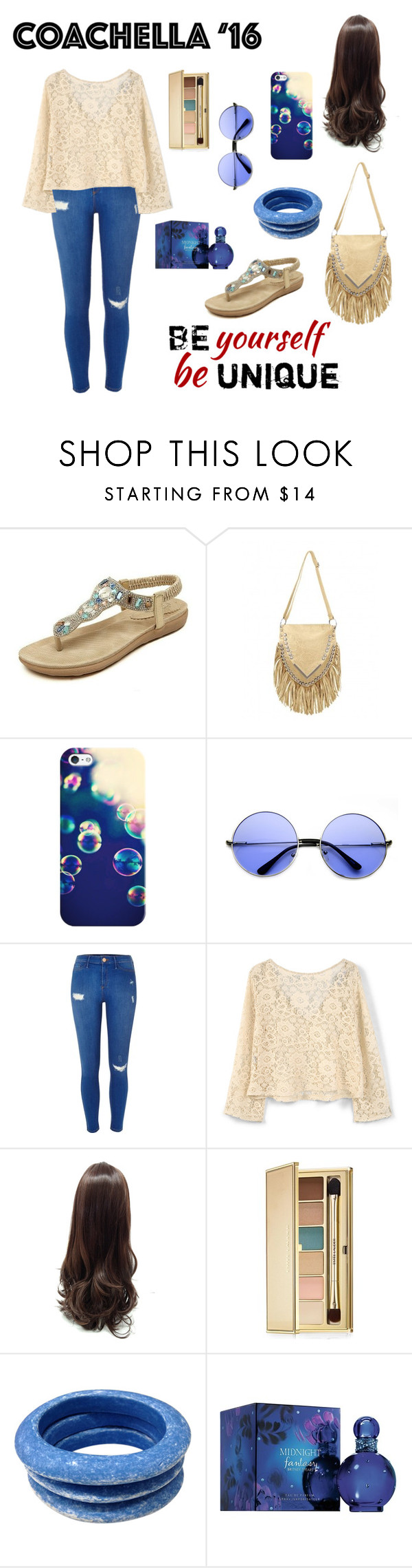 """coachella"" by candynena228 ❤ liked on Polyvore featuring Casetify, River Island, MANGO, Estée Lauder, Tuleste and Britney Spears"