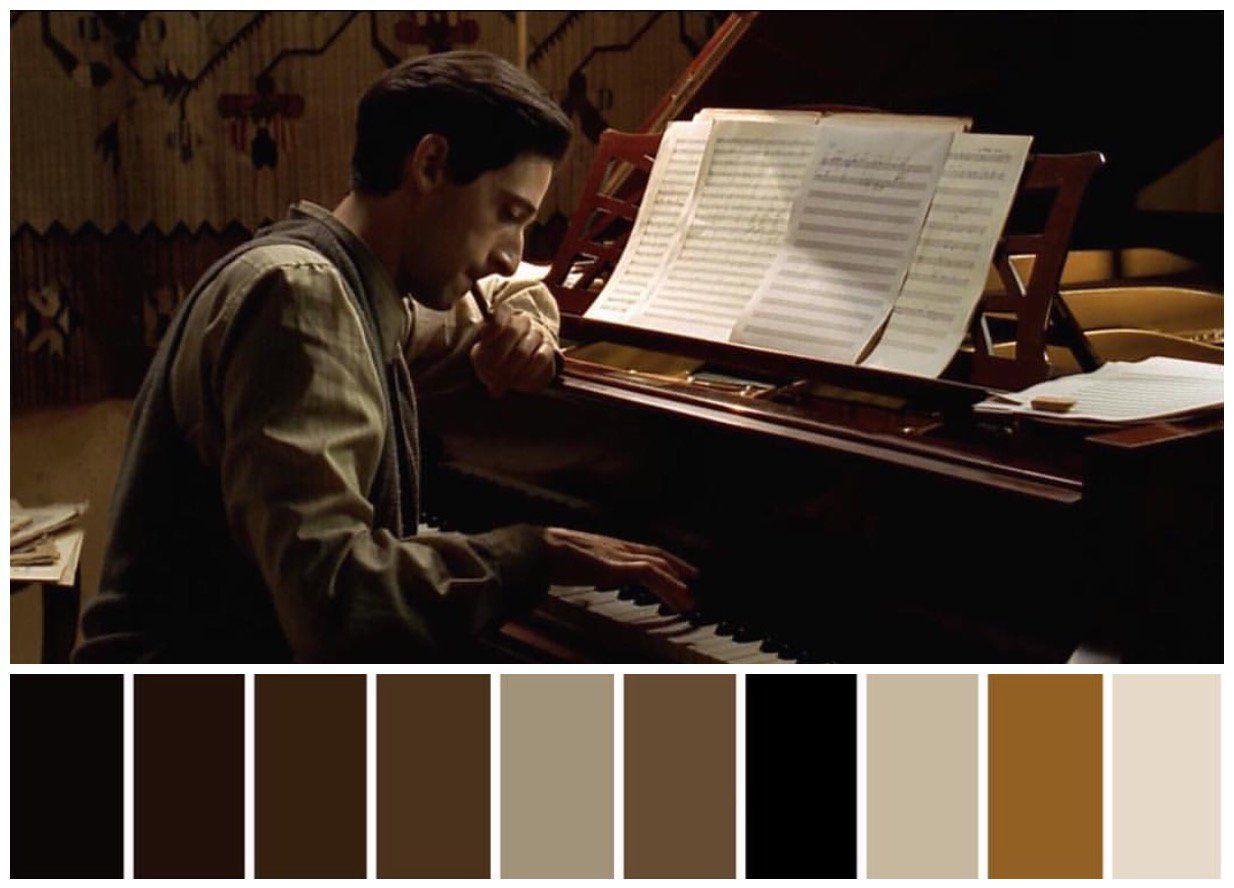 El pianista | Cinematografía, Pianista, Paleta de color