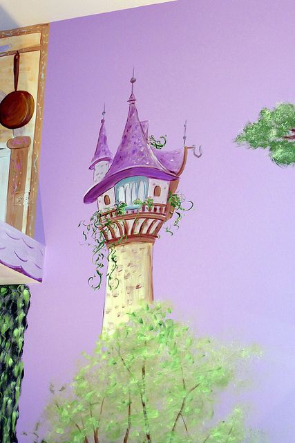 Gorgeous Tangled Themed Guest Rooms At Tokyo Disneyland: Princess Castle Mural, Rapunzel's Tower