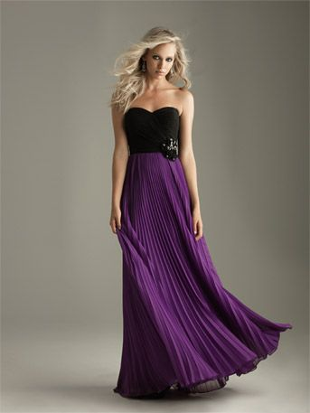strapless black and purple long prom dress | MY STYLE ...